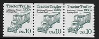 US Scott #2458, Coil of 3 1994 Tractor Trailer 10c FVF MNH