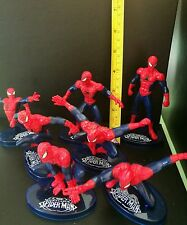 Spiderman cake toppers figuers set of 7 12cm spiderman plastic 3d  figures