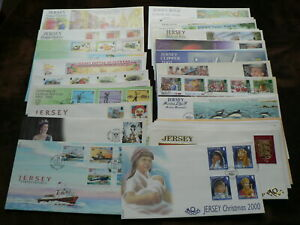 Jersey First Day Covers: 2000, 2001, 2002, Sold Individually, No Address