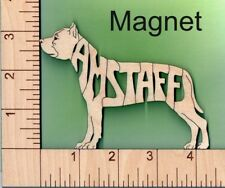 American Staffordshire Bull Terrier Amstaff Laser Cut Magnet Great Gift Idea