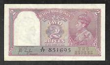 India - Old 2 Rupees Note - 1937 - P17a - XF