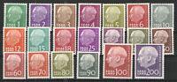 Germany - Saar 1957 Sc# 263-282 MH VG/F - Complete Pres Heuss set