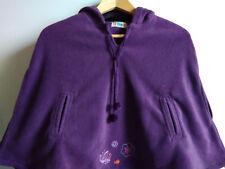 CAPE Enfant polaire à Capuche violet prune douce fille 8 ans T 126 purple H NEUF