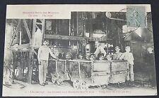 CPA 1919 MINE MINEURS ACCROCHAGE CHARBON HOUILLIERE