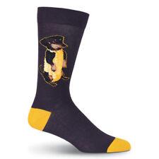 Corn Dog K Bell Men's Crew Socks Black New Novelty Dachshund Puppy Fashion*