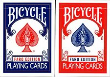 Faro Edition Bicycle 2 Deck Set Blue & Red Playing Cards Poker Size USPCC Custom
