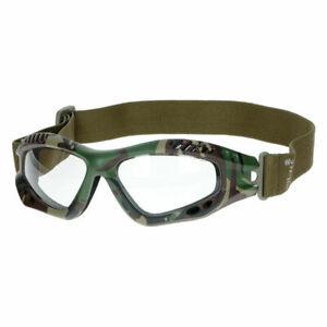 Mil-Tec Airsoft Sport Brille Schutzbrille Commando Air-Pro KLAR LENS Woodland