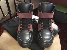 Kris Van Assche Black Bicolor High-top Sneakers US 8