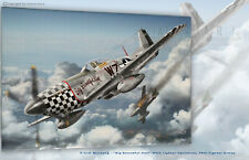 """P-51D Mustang """"Big Beautiful Doll"""" 78th Fighter Group- Aviation Art Canvas print"""