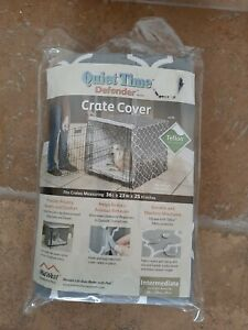 """Dog/Pet Crate Cover Quiet Time Defender  36""""Lx23""""Wx25""""H Teflon Protected NEW"""