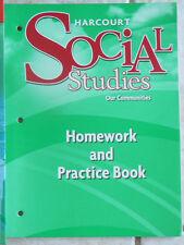 Harcourt Social Studies,gr.3/3rd NEW workbook 2008 Our Communities
