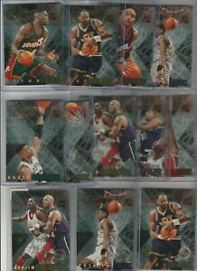 90's INSERTS LOT (9/10) 1995-96 STADIUM CLUB X-2 1:48 PACKS! + 3 MEMBER'S ONLY