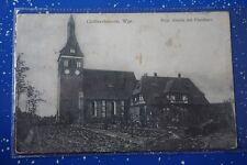 Goßlershausen, Westpreussen, Evgl. Kirche mit Pfarrhaus 1916