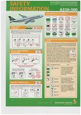 Safety Card singapore airlines a 330-300 - airbus 300-forma validaciones 0450