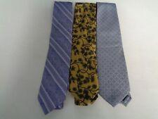 PAUL FREDRICK PRONTO UOMO BEAU BRUMMEL Lot Of 3 Ties Purple Yellow Gray B808