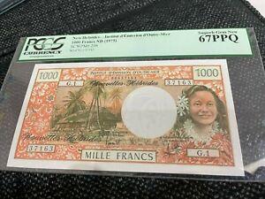 New Hebrides Institut d'Emission d'Outre-Mer 1,000 Francs ND (1975) Pick 20b