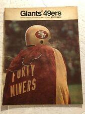 1968 NEW YORK GIANTS vs SAN FRANCISCO 49ers Program TARKENTON Yankee Stadium