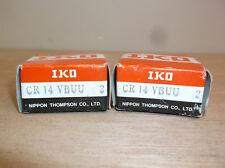 """Lot of 4 Cam Followers IKO CR14 VBUU 7/8"""" Diameter 1/2"""" Flat Wide Face"""