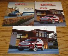 Original 2017 GMC Acadia Sales Brochure Lot of 3 GMC Magazine Summer Fall 2016