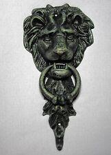 Majestic LION HEAD Cast Iron DOOR KNOCKER ~ Doorknocker VERDEGRIS