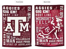 Texas A&M Aggies Fan Rules Design Premium 2-Sided Garden Flag Banner University