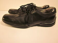 KENNETH COLE Black Oxford Loafers Shoes Men's size 8.5 Silver Technology VGUC