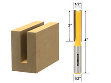"1/2"" Diameter X 2"" Height Straight Router Bit - 1/2"" Shank - Yonico 14150"