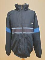 P471 MENS ELLESSE NAVY BLUE ZIPPED SPORTS JACKET UK XL EU 56