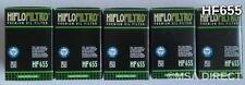 HUSABERG FE390 Enduro (2010 to 2012) HIFLOFILTRO FILTRO DE ACEITE (HF655) X 5