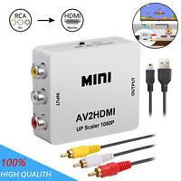 Mini AV to HDMI Video/Audio Converter RCA Composite CVBS+ Audio/Video Cable