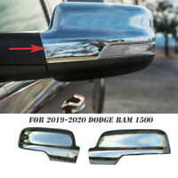 Mirror Covers ABS Chrome Sideview Silver Cover Trim For 2019 2020 Dodge Ram 1500