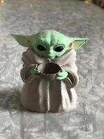 Baby Yoda With Bowl Fan Art Figurine Toy Hand Painted The Child Manadalorian