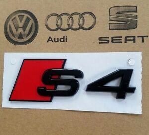 original Audi S4 Logo A4 Schriftzug schwarz Emblem Aufkleber hinten Heckklappe