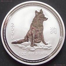 Australien 1 Dollar 2006 Lunar I Hund 1 Oz Silberin Münzkapsel