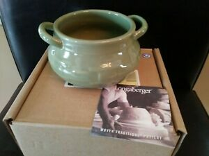Longaberger Sage Green Pottery Soup Toureen MINT FREE SHIPPING!