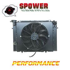 Black Aluminum Radiator + Fan Shroud For HOLDEN COMMODORE VB VC VH VK V8 79-86