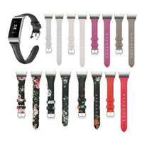 Für Fitbit Charge 3 4 Armband Ersatzband Strap Echt Leder Uhrenarmband Wristband