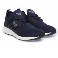 Emporio Armani Sneakers Minimal Running U  Mens Trainers Navy Gym Shoes Size6-11