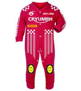 Cryumph Red Baby Biker Race Sleep Suits