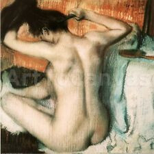 """35""""x35"""" WOMAN COMBING HER HAIR by EDGAR DEGAS CLASSIC MASTER MUSEUM Repro CANVAS"""