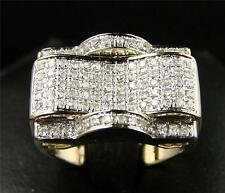 Hommes Micro Pavé Véritable Diamant Ring-Avenger-1.15 Cts