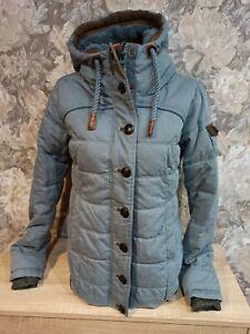 Naketano Women's winter  jacket blue Color size S hooded excellent