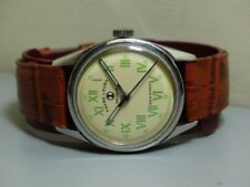 Vintage Favre Leuba GENEVE SEAKING enroulement OLD USED Watch e438 antique