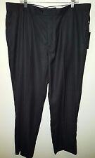 Alberto Giani NWT Men's Charcoal Flat Front Striped Dress Pants Size 42/32