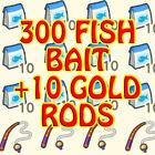 ACNH🍄🔔🍦300 fish bait + 10 golden rods set catch rare fish???