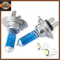H7 100w XENON Superwhite Headlight Halogen Bulbs Pair + Free 501 LED x2