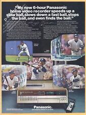 PANASONIC home video recorder 1980 Vintage Print Ad