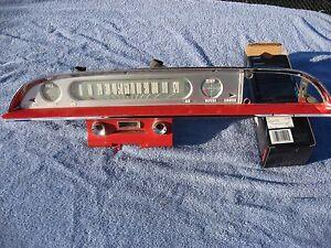 1960 1961 Ford Galaxie speedometer gauges red