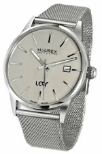 Haurex Italy Men's 2A363UG1 Leaf Sub Second Beige Dial Mesh Steel Watch