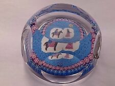 WHITEFRIARS Limited Edition 1978 Mary sur un âne verre paperweight